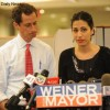 New York Mayor campaign Anthony Weiner, Huma Abedin, SExting Scandal