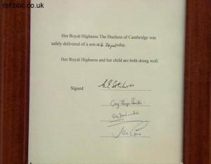 Buckingham Palace announce Royal Baby