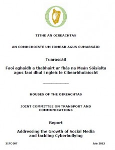 House of Oireachtas Report on Social Media July 2013 Ireland