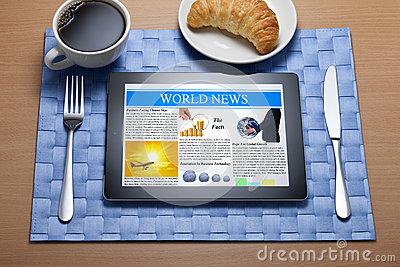 Online breakfast with ipad